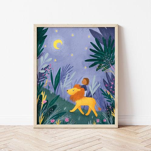 Lion Night Printable 8x10