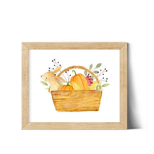 Bunny Basket 10x8 Printable