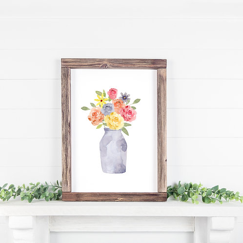 Floral Painting Printable 8x10