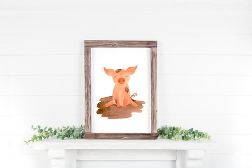 Pig Printable 8x10