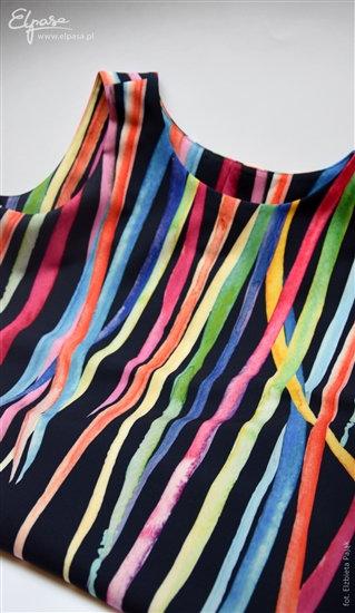 KLEIT OLIVIA - värvikirev kleit rasedale