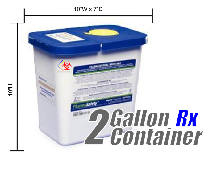 2 Gallon Rx Disposal Container