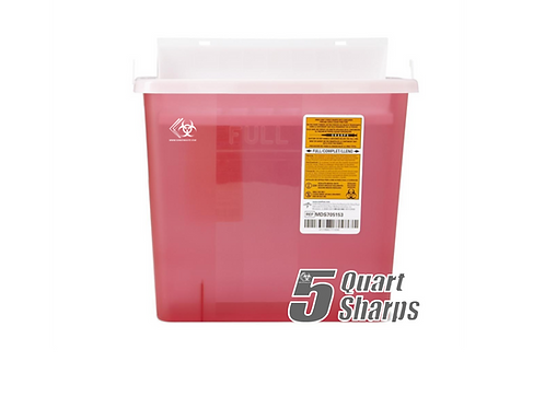 5 Quart Sharps Container (RED)