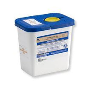 2 Gallon Pharmaceutical Disposable Container (Blue/White)