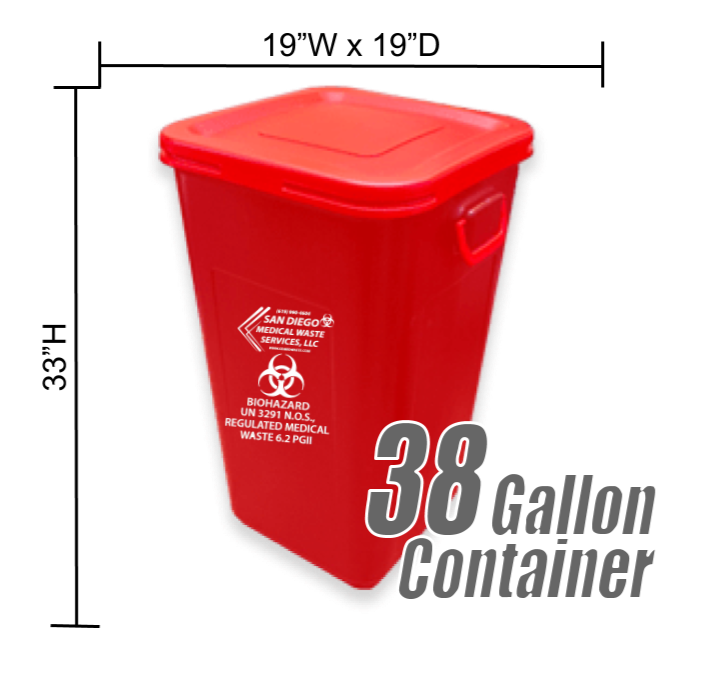 38 Gallon Medical Waste Container
