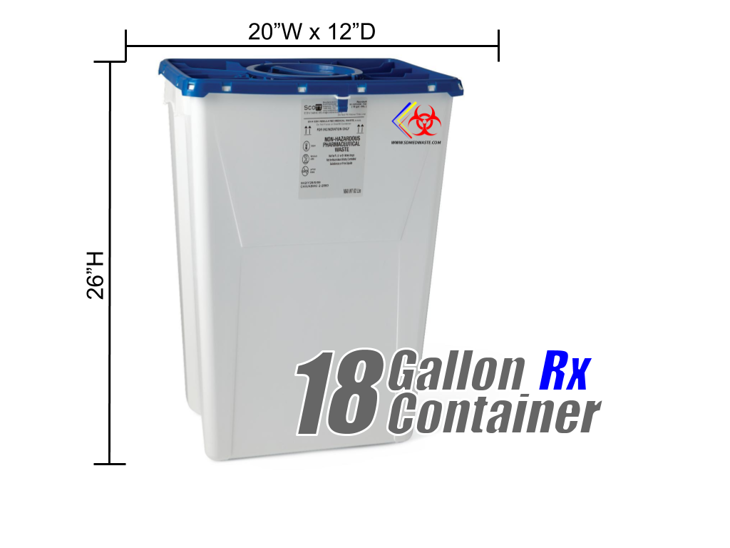 18 Gallon Rx Disposal Container
