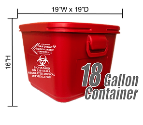18 Gallon Medical Waste Container