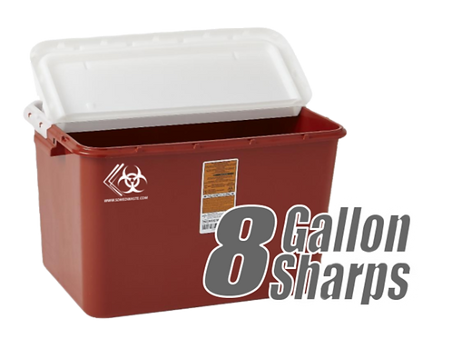 8 Gallon Sharps Container (Red)