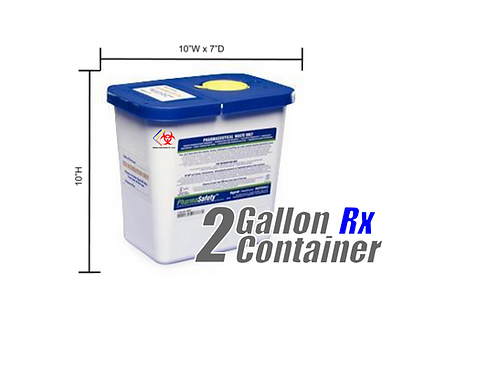 2 Gallon Pharmaceutical Disposable Container (Blue/White)