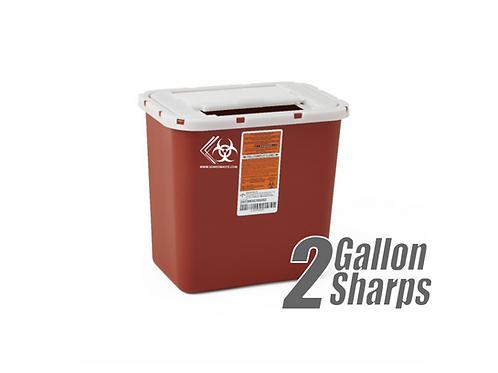 2 Gallon Sharps Container (RED)