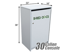 SHRED-DOCS 30 Gallon Security Console.pn