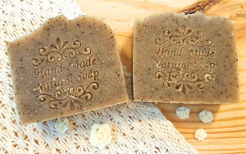 Sugar & Spice Gardener's Scrub Soap (natural cold process handmade soaps)