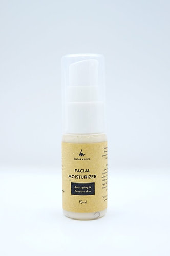 Sugar & Spice Handmade Natural Facial Moisturiser 15ml (Anti-ageing & Sensitive Skin)