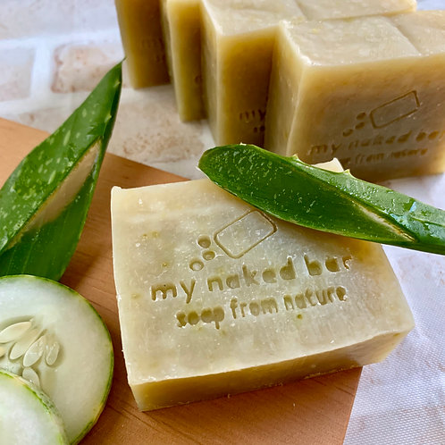 Cucumber Aloe Green Clay Bar with Lavender Tea Tree