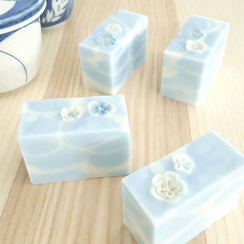 Sugar & Spice Flower on Water art soaps (natural cold process handmade soaps)