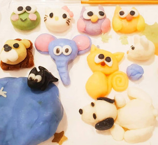 Soap clay model of cute little animals made from cold process soap
