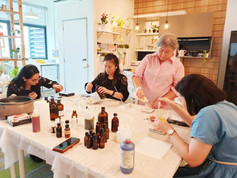 Natural skincare workshop in our cozy studio