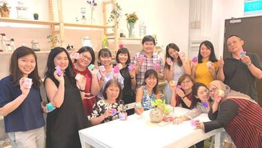 Team bonding soap art workshop of MPA