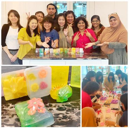 Team bonding soap art workshop of MOE