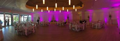 Goldline Entertainment – Uplights - Head Table - Wedding - Purple