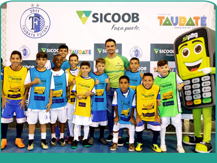 Rei do Futsal Falcão junto com o Sicoob UniMais Mantiqueira promoveram evento na cidade de Taubaté.