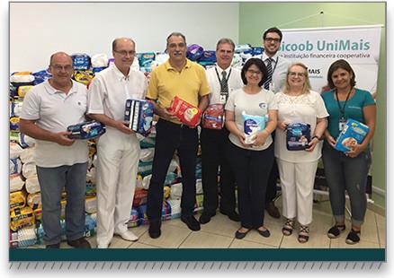 Sicoob UniMais realiza entrega de doações a instituições de apoio a idosos em Rio Claro