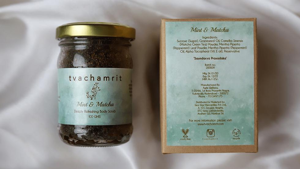 Mint and Matcha Body Scrub