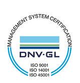 DNV GL ISO 9001 + 14001 + 45001 Cert Mar