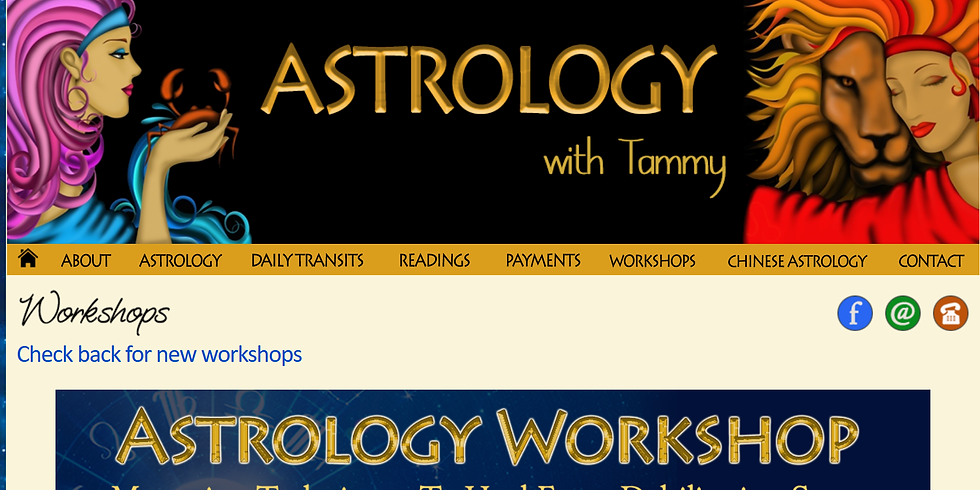 Astrology with Tammy: Cosmology to Natal Charts - Friday Night US/Canada; Saturday Australia
