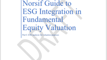 Norsif inviterer til webinar om Norsifs Guide to ESG Integration in Fundamental Equity Valuation