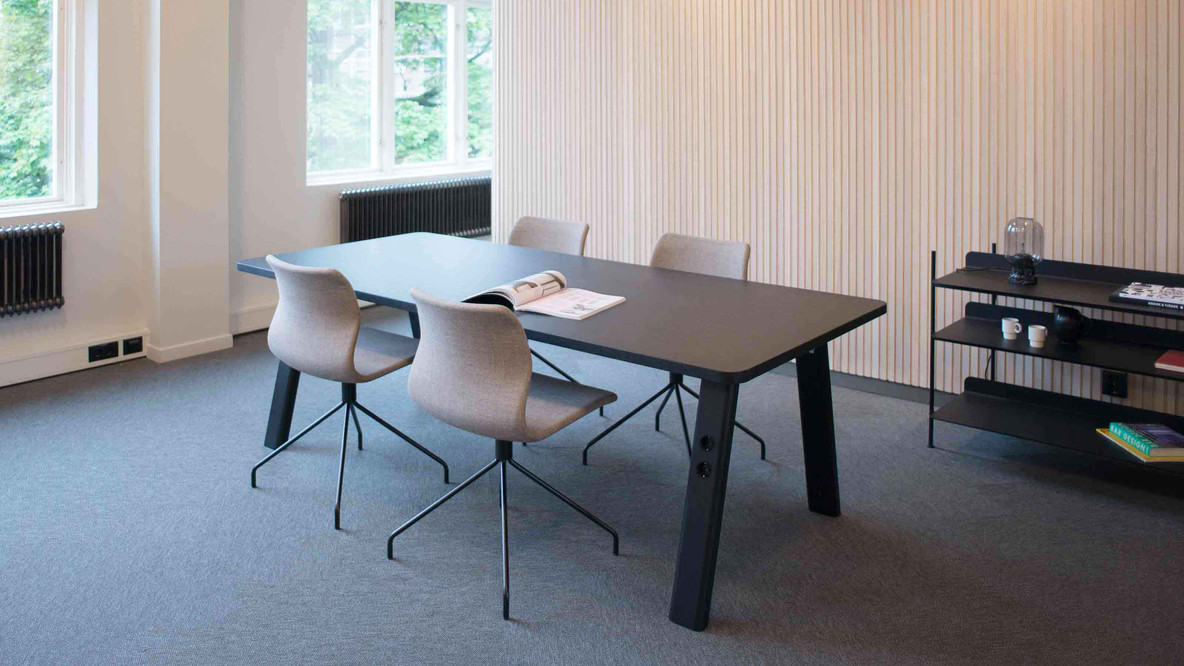 Commune Table + Ral Chairs