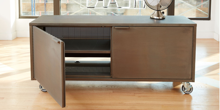 AD A/V Credenza in Warm Steel