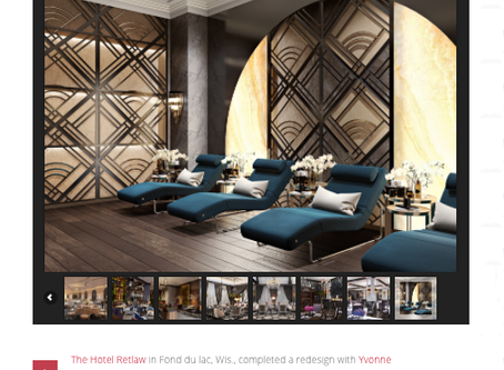 Yvonne Roberts unveils interior design for renovation of Wisconsin's Retlaw