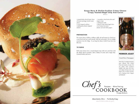 Chef's COOKBOOK Recipes + Wine Pairing by Yvonne Roberts