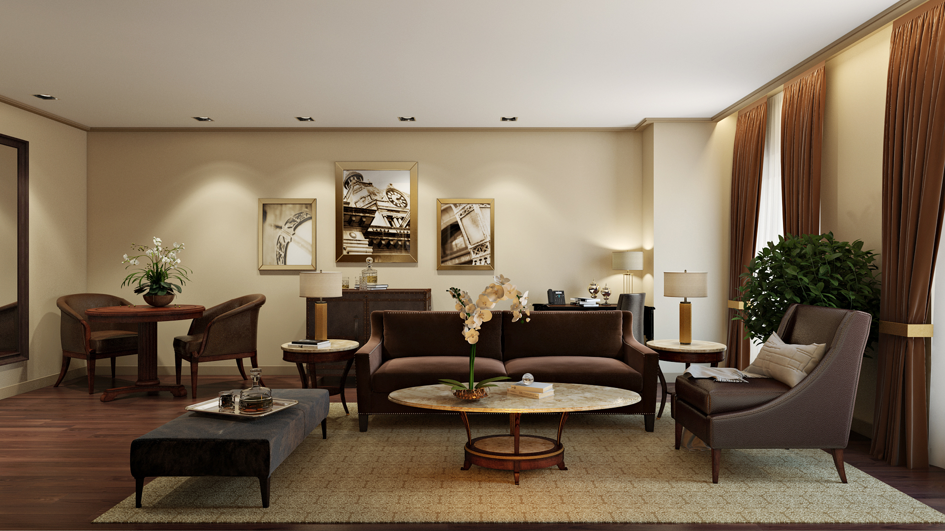 CLASSIC PREMIER SUITE  |  INTERIOR DESIGN + 3D RENDERING By GURU OF LUXURY