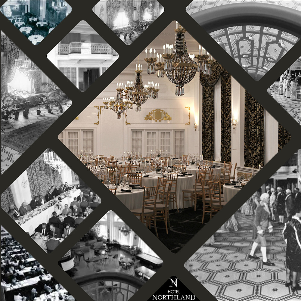 Historic Images and 3D Rendering of the CRYSTAL BALLROOM