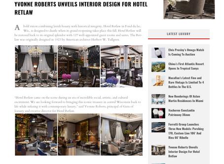 YVONNE ROBERTS UNVEILS INTERIOR DESIGN FOR HOTEL RETLAW