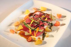 Chef's COOKBOOK |  Yellow Fin Tuna Sashimi Florida Citrus Green Onion Ponzu