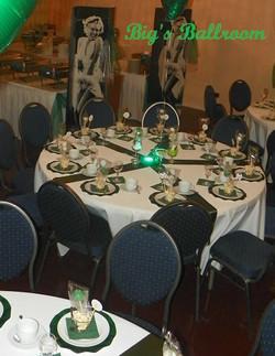 Big's Ballroom green white