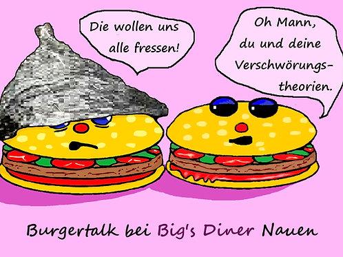 """3 Postcards """"Burgertalk by Big's Diner"""""""