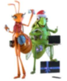 Cigarra e Formiga Mascotes de Natal.jpg