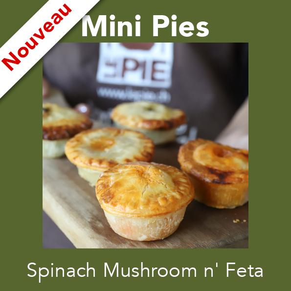 6 Mini Spinach Mushroom n' Feta