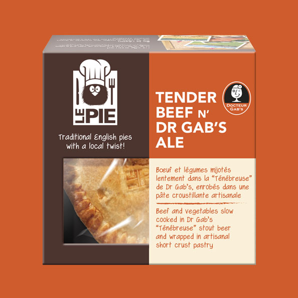 LePie Tender Beef n' Dr. Gab's Ale