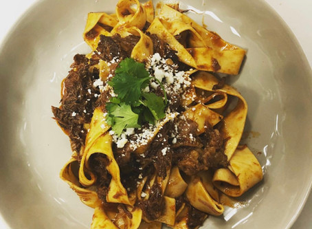 At the table: Chef Adam johnson