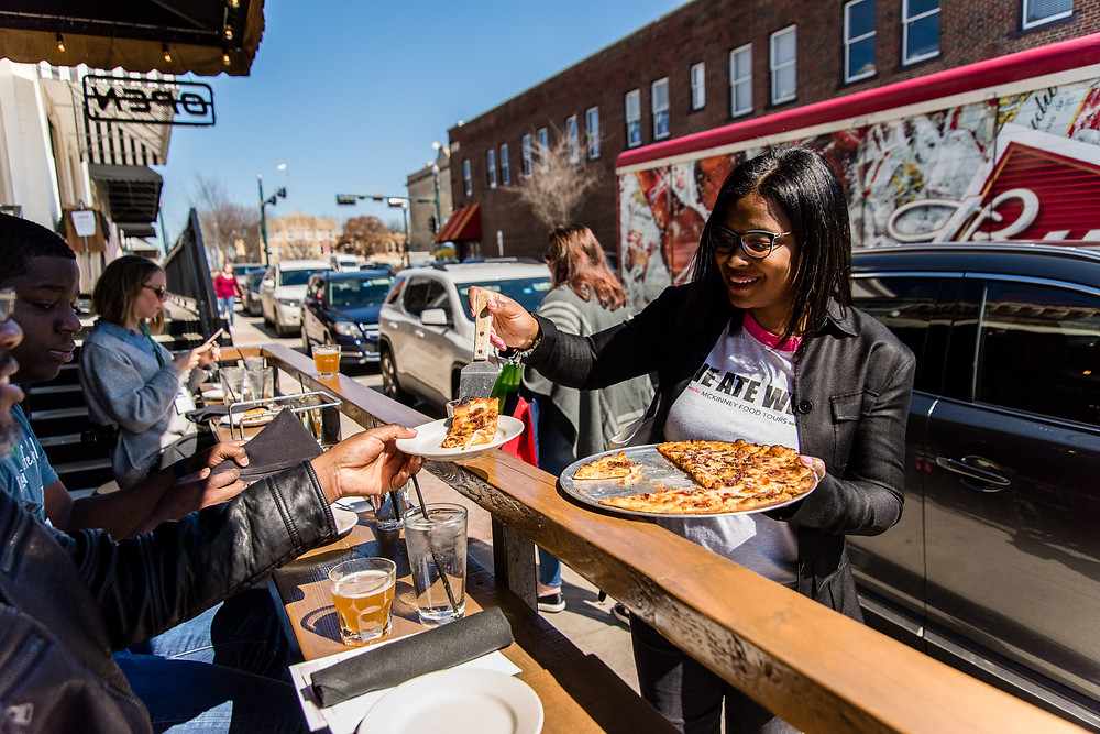Sample food at the best restaurants in Historic Downtown McKinney!
