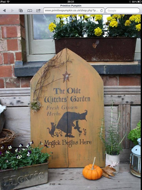 Witchy Garden Sign