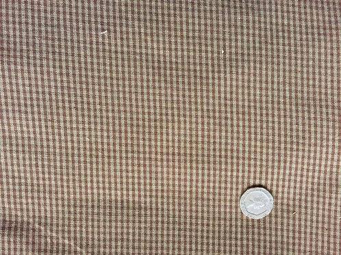 Small Brown Check Homespun Fabric