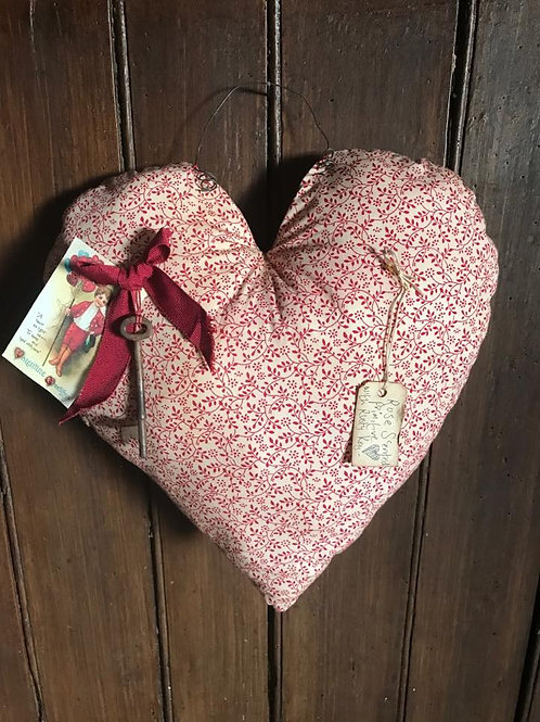 Rose scented calico heart