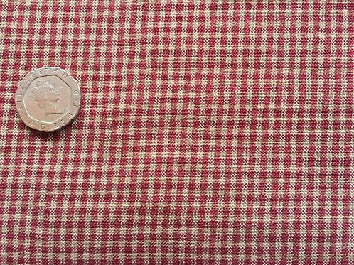 Small Burgundy/Red Check Fabric