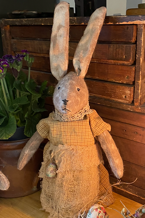 Primitive folk Art Bunny